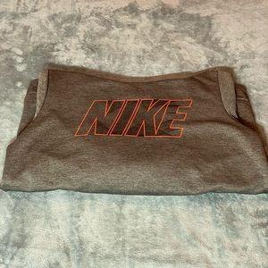 Gray dryfit Nike hoodie